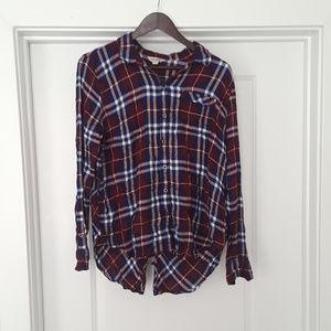 Lucky Brand Women's Plaid Button Up Shirt
